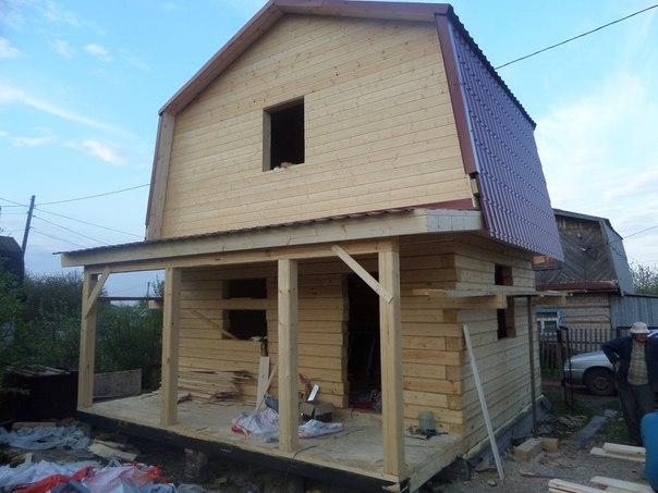 Дом профилированного бруса с террасой Построили дачный дом бруса добро пожаловать строительную компанию