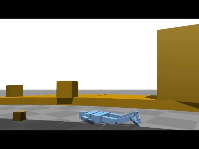 Самообучающаяся ходьбе компьютерная модель. (xkcdoff)