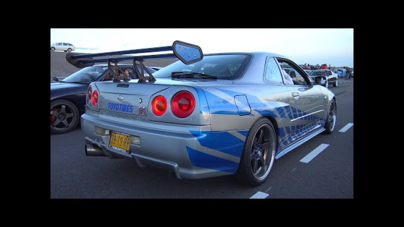 Nissan Skyline R34 GT-T - Burnout Accelerations!