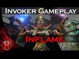 Inflame Invoker Gameplay Dota 2