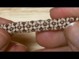 BeadsFriends: Tubular beadwork tutorial (Chenille Stitch) - A simple idea for a tubular beadwork