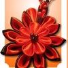 Цветы из атласных лент..Бижутерия.Ручная Работа