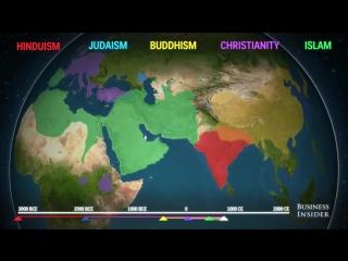 Как распространялись по миру пять основных религий