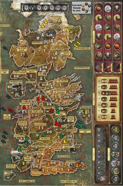 Карта из игры престолов