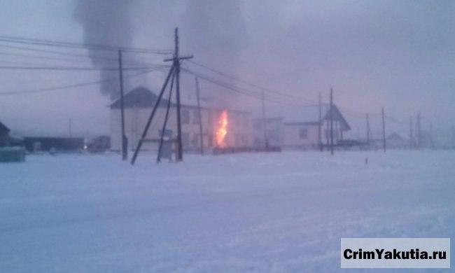 В Якутии по факту гибели трех малолетних детей при пожаре возбуждено уголовное дело
