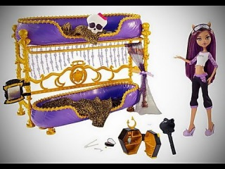 Monster High Dead Tired Clawdeen Wolf Doll And Bed Playset обзор на русском