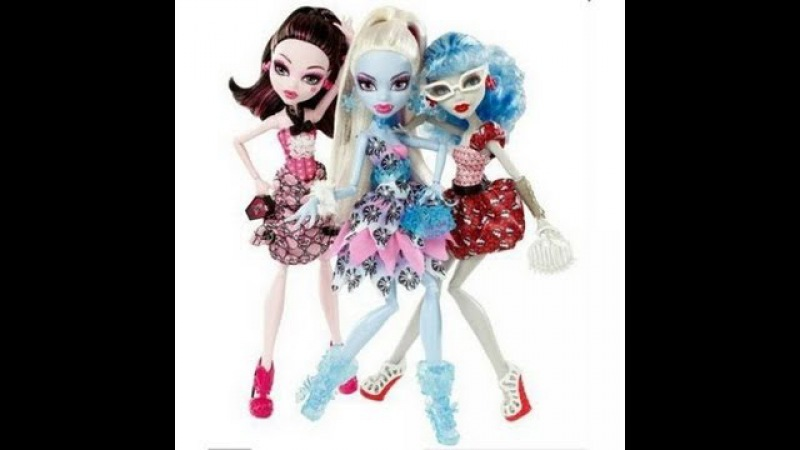 MONSTER HIGH DOT DEAD GORGEOUS Exclusive Set Abbey Draculaura Ghoulia обзор на русском