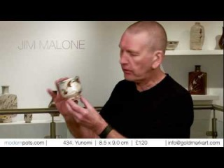 Leading British potter Jim Malone talks about his work for Goldmark Gallery's Talking Pots series.