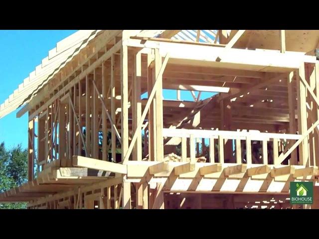 Фильм о Канадской технологии строительства - GREB. Каркасные дома утепленные соло ...