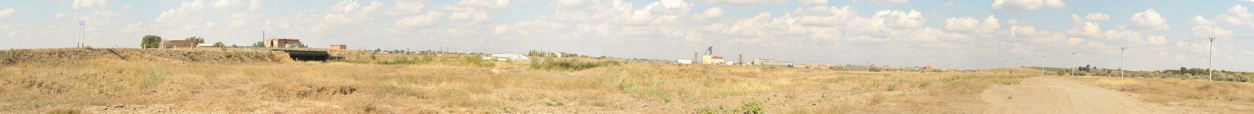 Вид на зону курорта 'Соль-Илецкие озёра' с центральной части проектируемого ТРК