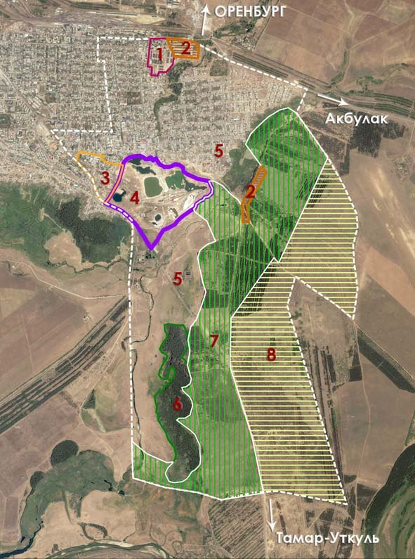 Предлагаемая проектировщиками схема функционального зонирования объектов туристско-рекреационного кластера