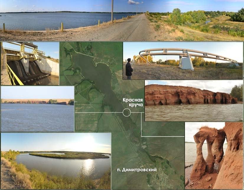 Схема Черновского (Димитровского) водохранилища