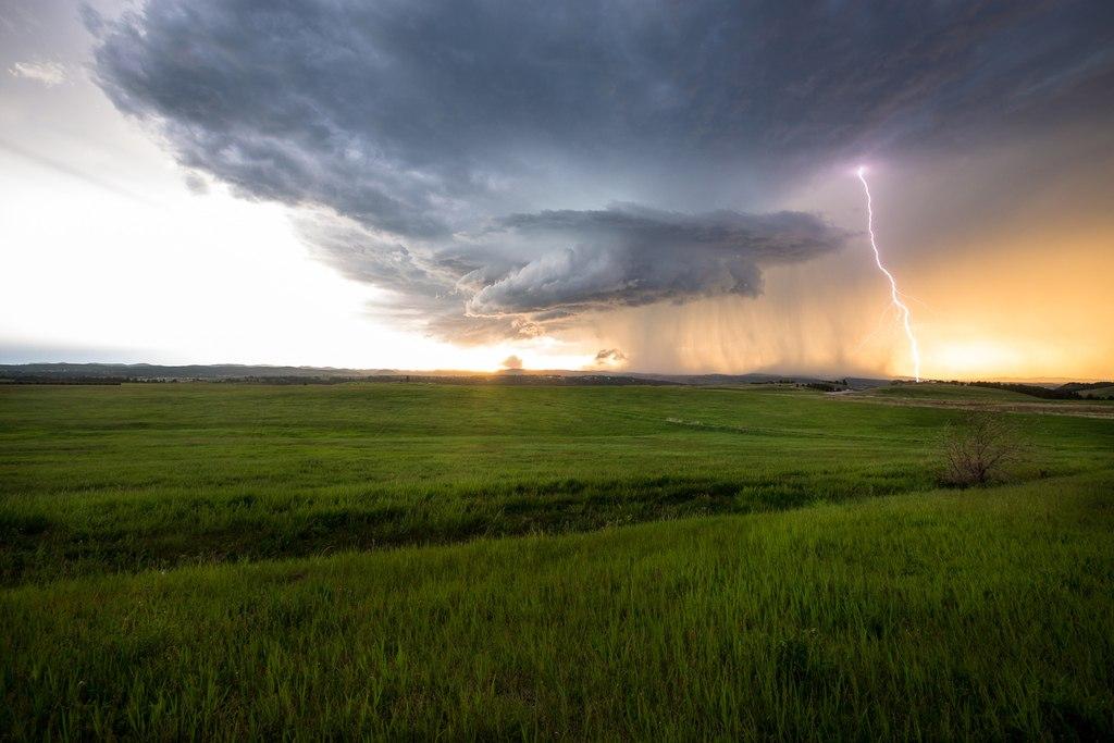 Гроза над полями, штат Южная Дакота
