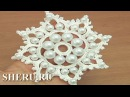 Easy to Crochet Snowflake With Bead Урок 19 Снежинка с бусинками