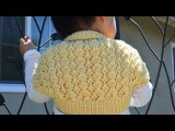 How to Knit an Easy and Lacy Baby Bolero (Shrug)