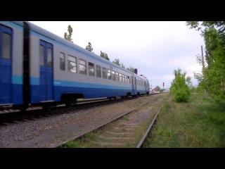 Дизель-поезд Д1-717 рейсом 6574 Вадим - Николаев / Diesel train D1-717 local train 6574