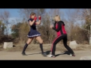 Boxer Girl vs Muay Thai Schoolgirl Fight Scene ( Tekken Street Fighter Style)