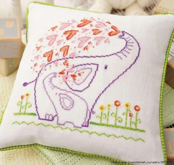 Ideas para el hogar: Plantilla de bordado para almohadón