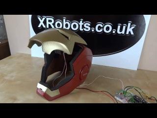 XRobots - Iron Man Cosplay Helmet motorized faceplate and light up eyes, electronics and mechanics