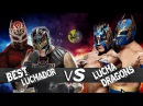 Rey Mysterio and Sin Cara(Mistico) Vs Lucha Dragons Masked Marvels