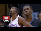 Kevin Durant vs Andrew Wiggins Duel Highlights Thunder at Wolves (2014.12.12) - MVP vs Rookie!