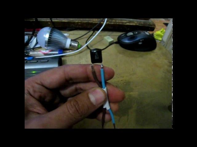 как убрать мигание светодиодной лампы с сохранением индикатора на выключателе