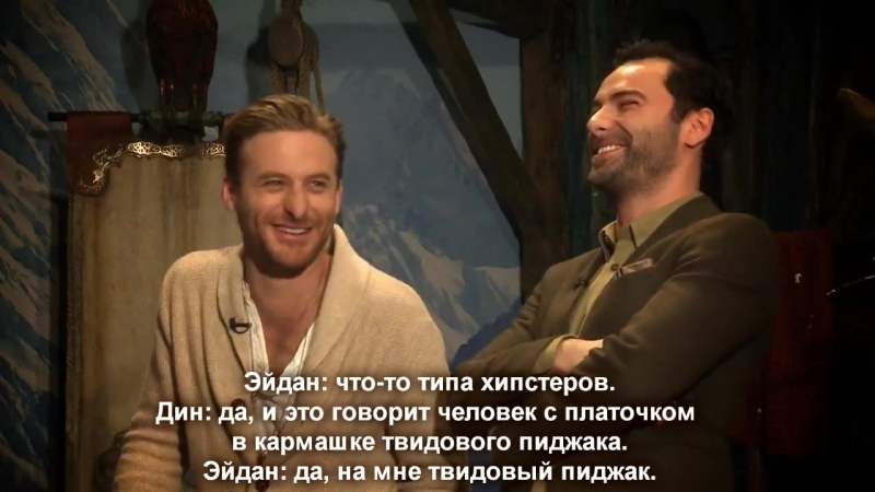 A Perfect Day in Middle Earth (Wellington) Dean OGorman and Aidan Turner (Русские субтитры)