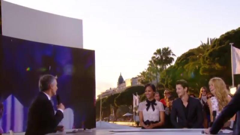 15/05/14 Les acteurs Blake Lively, Zoe Saldana et Pierre Niney sur le plateau du Grand Journal de Cannes