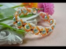 How Do You Make a Criss Cross Beaded Bracelet with Seed Beads and Pearls