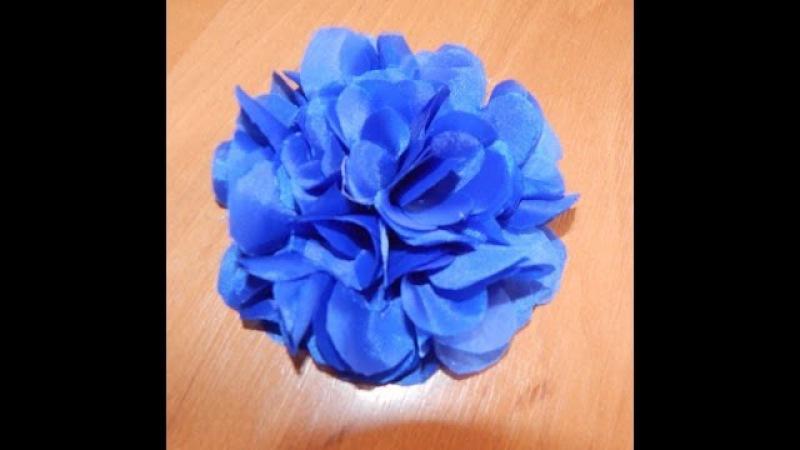Цветы из ткани. Как сделать цветок из синтетической ткани.DIY.Flowers of fabric