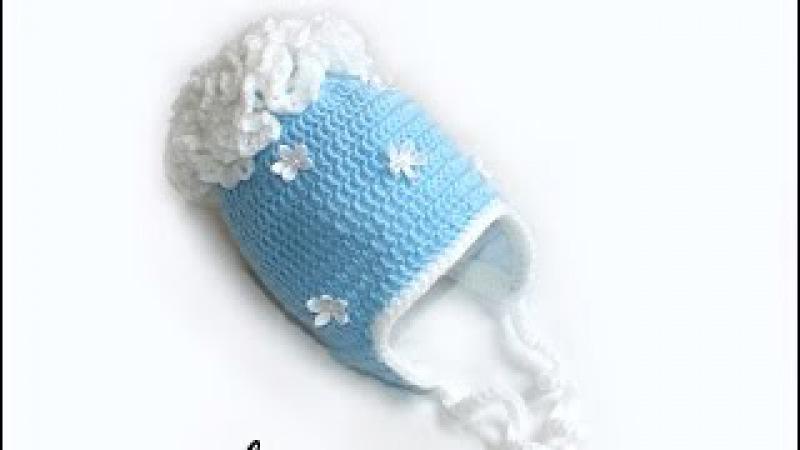 МК Теплая шапочка крючком с подкладом из флиса.(Часть 2). Crochet. Crocheted hat (cap).