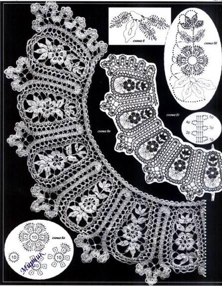 en crochet Gabriela: Tres modelos maravillosos con esquemas de cuellos