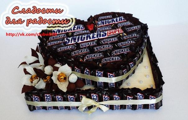 Торт с шоколадок и конфет своими руками фото