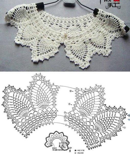 3 cuellos de blusitas lindos accesorios | Crochet