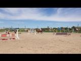 Соревнования на ипподроме 31 мая 2015 г.,  Виктория Сун-Ден-Хо на Аристократе