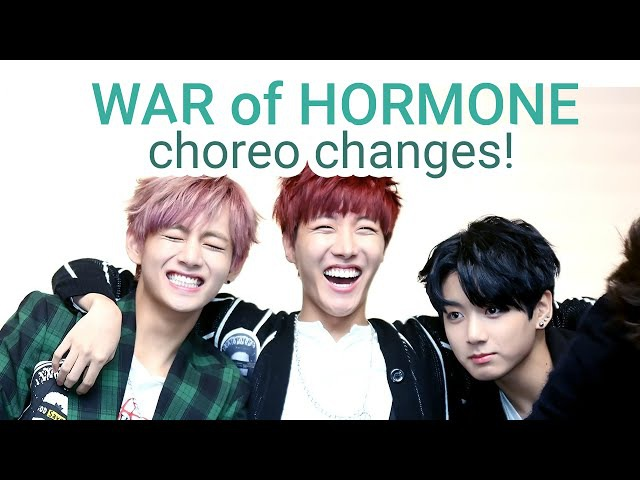 BTS - War of Hormone choreo changes butt smacks