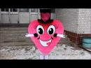 живая валентинка  сердце курьер  признание в любви  поздравление с днем рождения  подарок сюрприз