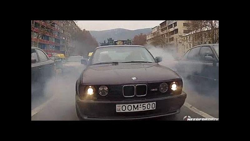 BMW M5 E34 -STREET DRIFT !EXTREME! Giorgi Tevzadze R.I.P