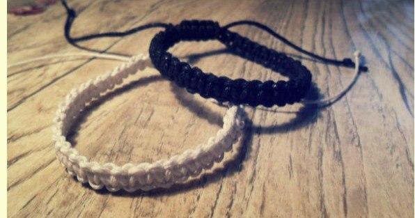 Плетем браслеты из вощеного