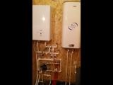 Монтаж отопления, теплого пола, водоснабжения и канализации в бане.