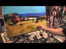 Видеоурок Сахарова Как научиться рисовать море, берег живопись для начинающих,...
