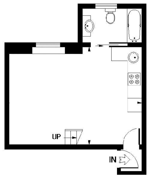 Вопрос от участницы группы: что делать в небольшой студии с высокими потолками 3,8 м.