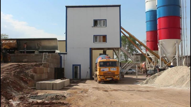 Работа бетонного завода MEKAMIX-60 COMPACT
