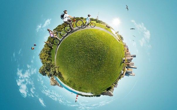 Как сделать фото маленькой планеты