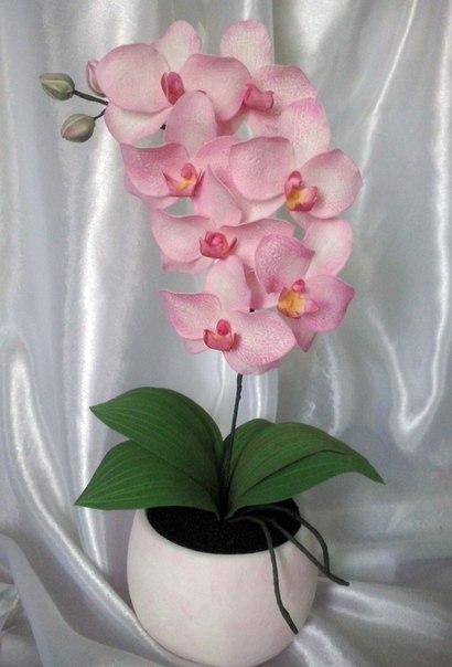Орхидей из фоамирана