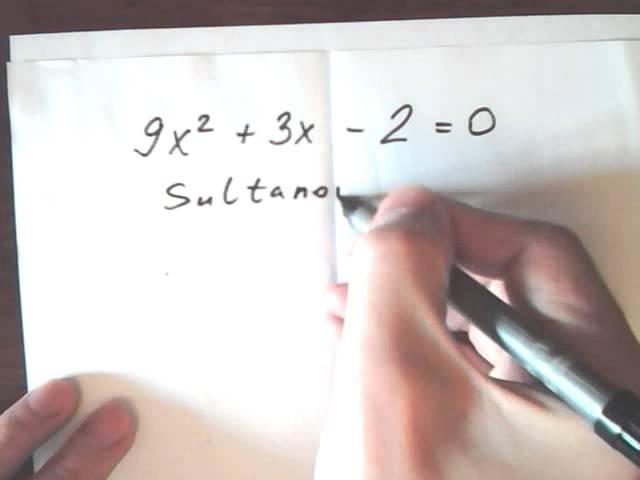 Как быстро решить квадратное уравнение без дискриминанта