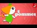 5 POMMES Apprendre à compter en s'amusant ♫ Comptines maternelles chanson pour bébé