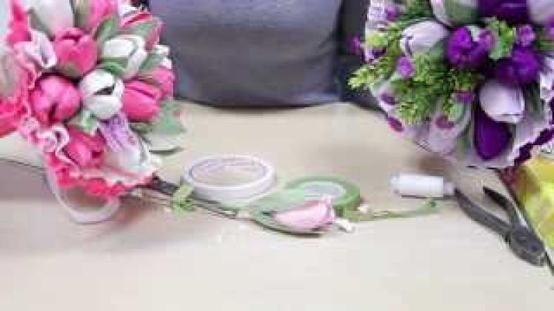 Букеты из конфет видео мастер класс тюльпан