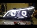 Гаражный тюнинг 1 - Тюнинг фар оптики Honda Civic 8 4d - как это сделать.