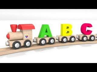 ABC song nursery rhyme: learn letters with toy alphabet train! Educational 3d cartoon for children